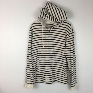 J.Crew Men's Striped Pullover Knit Hoodie Sweater